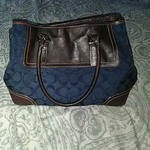 Coach Blue Small Classic Signature Purse